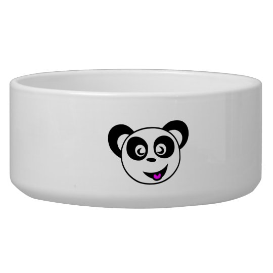 Cartoon Panda Bear Face Bowl