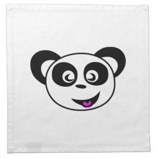 Cartoon Panda Bear Face Cloth Napkins