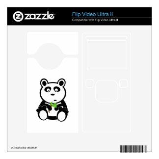Cartoon Panda Bear Skin For Flip Ultra II