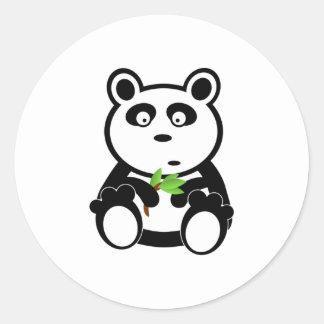Cartoon Panda Bear Round Sticker