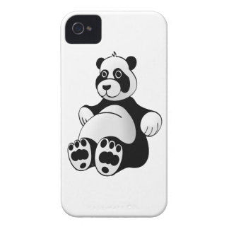 Cartoon Panda Bear Stuffed Animal iPhone 4 Case-Mate Case