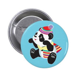 cartoon panda button