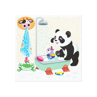 cartoon panda canvas print