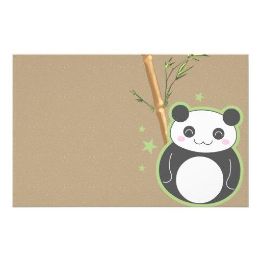 Cartoon Panda Customized Stationery
