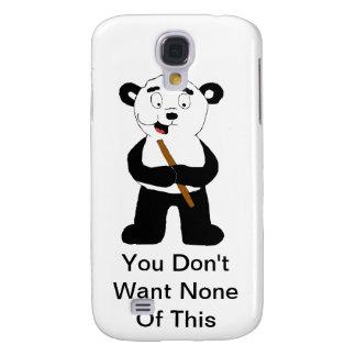 Cartoon Panda Eating Bamboo Galaxy S4 Case