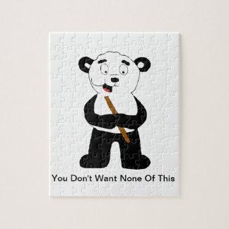Cartoon Panda Eating Bamboo Jigsaw Puzzle