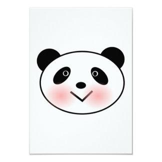 Cartoon Panda Face 3.5x5 Paper Invitation Card