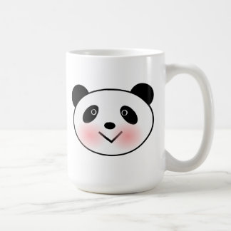 Cartoon Panda Face Classic White Coffee Mug
