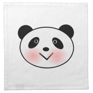 Cartoon Panda Face Napkins