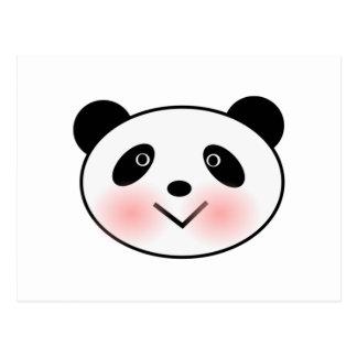 Cartoon Panda Face Postcard