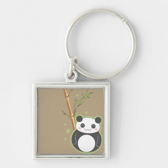 Cartoon Panda Keychain