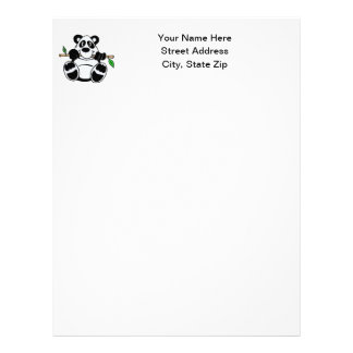 Cartoon Panda Letterhead