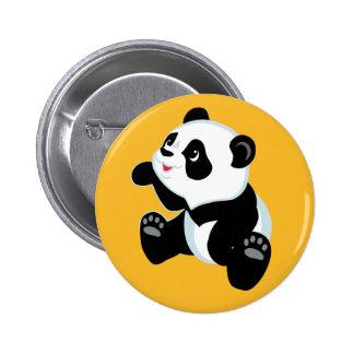 cartoon panda pinback button