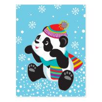 cartoon panda postcard