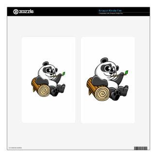 Cartoon Panda Skin For Kindle Fire