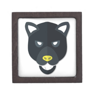 Cartoon Panther Head Premium Trinket Box