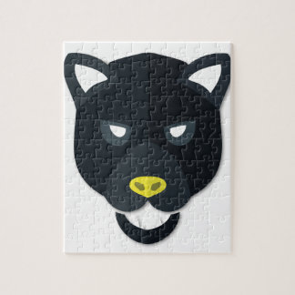 Cartoon Panther Head Puzzle