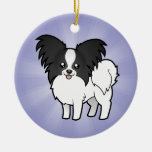 Cartoon Papillon (add your own message) Ornaments