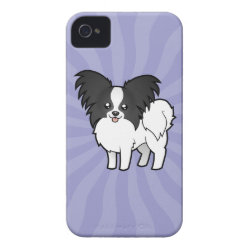 Case-Mate iPhone 4 Barely There Universal Case with Papillon Phone Cases design