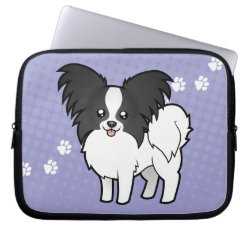 Cartoon Papillon Computer Sleeve