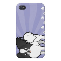 Cartoon Papillon iPhone 4 Cover