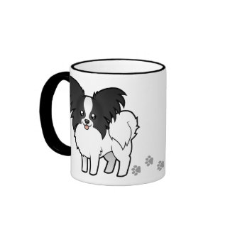 Cartoon Papillon Coffee Mug