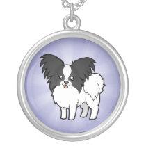 Cartoon Papillon Silver Plated Necklace