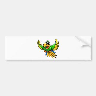 Cartoon Parrot Car Bumper Sticker