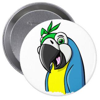 Cartoon Parrot Buttons