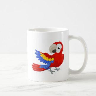 Cartoon Parrot Character Coffee Mug