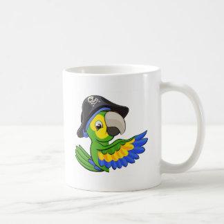 Cartoon Parrot in Pirate Hat Coffee Mug