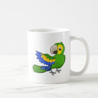 Cartoon Parrot Mascot Coffee Mug