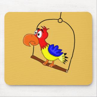 Cartoon parrot mouse pad
