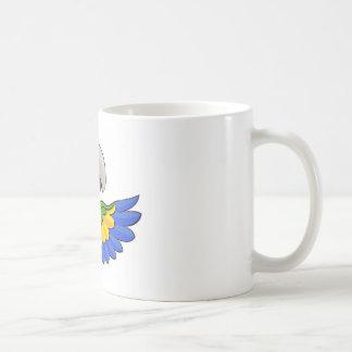 Cartoon Parrot Pointing Around Sign Coffee Mug
