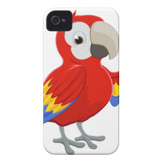 Cartoon Parrot Pointing iPhone 4 Cover