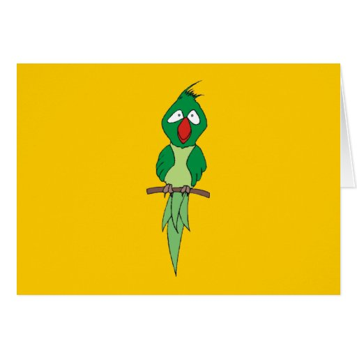 Cartoon Parrot Stationery Note Card