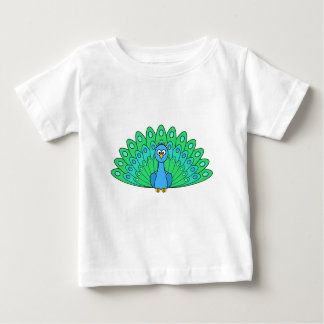 Cartoon Peacock Baby T-Shirt