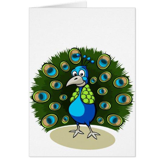 Cartoon Peacock Card