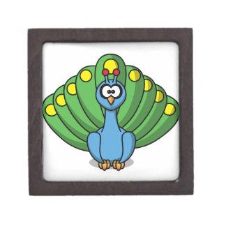 Cartoon Peacock Gift Box Premium Jewelry Box