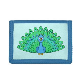 Cartoon Peacock Tri-fold Wallet