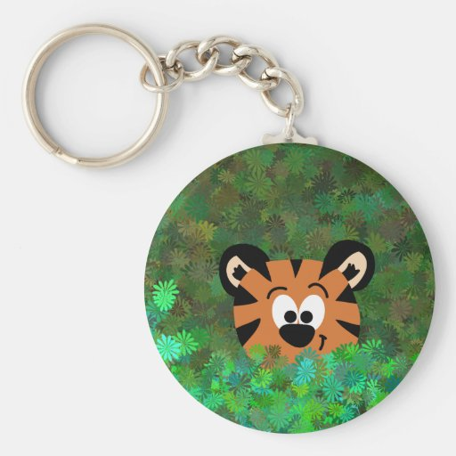 Cartoon Peeking Baby Tiger Rahul Keychain