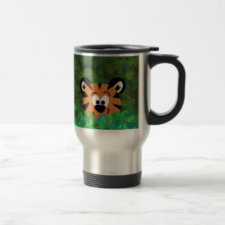 Cartoon Peeking Baby Tiger Rahul Travel Mug