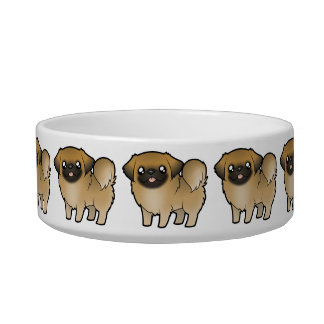 Cartoon Pekeingese (puppy cut) Bowl