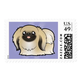 Cartoon Pekeingese (show cut) Postage Stamp