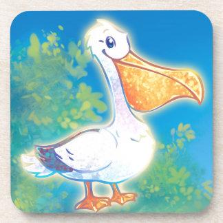 Cartoon Pelican Coaster
