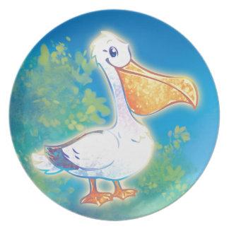 Cartoon Pelican Plate