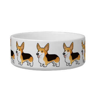 Cartoon Pembroke Welsh Corgi Bowl