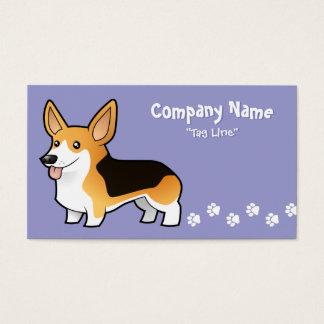 Cartoon Pembroke Welsh Corgi Business Card