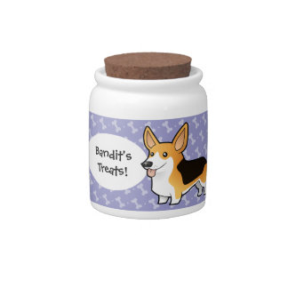 Cartoon Pembroke Welsh Corgi Candy Jars