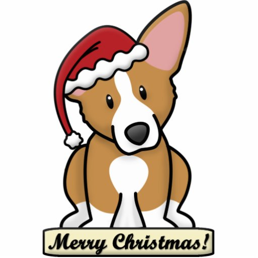 Cartoon Pembroke Welsh Corgi Christmas Ornament Photo